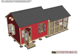 Red Barn Plans Home Garden Plans Cb210 Combo Plans Chicken Coop Plans