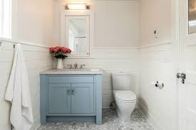 Tongue And Groove In Bathrooms Blue Bathroom Vanity Transitional Bathroom Jas Design Build