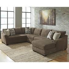 benchcraft justyna contemporary 3 piece sectional with right