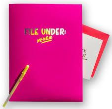 themed sayings ladyfingers letterpress set of 5 file folders colorful themed