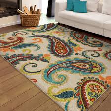 Stain Resistant Rugs Orian Rugs Indoor Outdoor Paisley Wyndham Multi Colored Area Rug