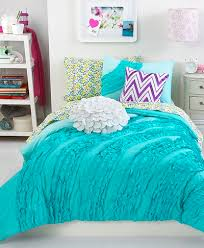aqua ruffle comforter turquoise bedding for girls ruffle comforter sets from teen