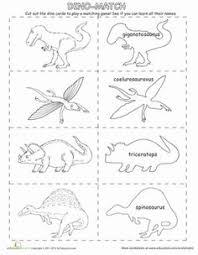 dinosaur matching game matching games dinosaurs and worksheets