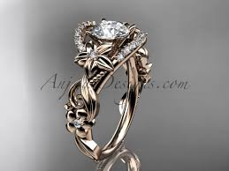 flower engagement rings 14k white gold flower unique engagement ring
