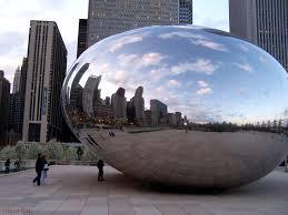 The Bean Chicago Map by Chicago Illinois U2013 The Bean Cloud Gate Sculpture At Millennium