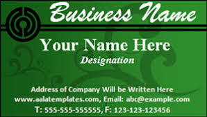 business card template word excel templates