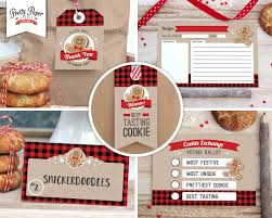 christmas cookie party invitations holiday cookie exchange party pack instant download