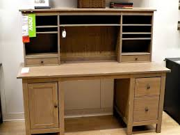 living l shaped white wooden corner desk with hutch having