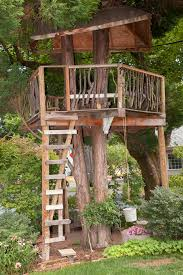 Tree Ideas For Backyard Top 10 Tree Houses Equipped By Decks With Stairs Combined By Best
