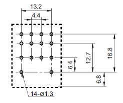 gr12pin4p 4pdt 12vdc 5a 14 pin terminals relay technical data