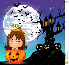 cute halloween background clipart halloween night background with cute little in basket pumpkin