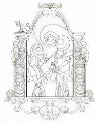 nightmare christmas coloring pages free nightmare