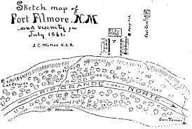 Arizona On Map The Confederate Territory Of Arizona Col Sherod Hunter Camp 1525