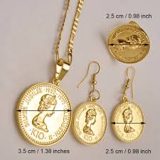 coin necklace vintage images Shiny thing studio british queen elizabeth coin charm medallion jpeg