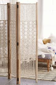 screen room divider magical thinking tabitha macrame foldable screen urban