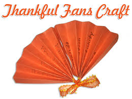 thanksgiving craft thankful fans christianity cove