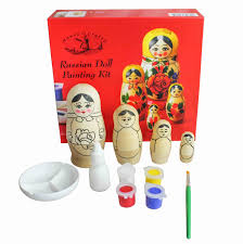 house of crafts russian doll painting kit paint your own wooden