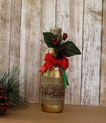 red and ribbon decorated beer bottles christmas decor bottles