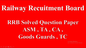 exam pattern of goods guard railway solved question paper for asm ta ca goods guards tc
