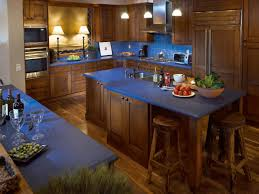 kitchen island color options rustic blue blue countertops and