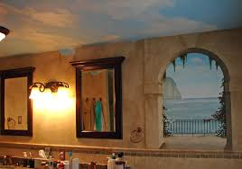 faux painting ideas for bathroom lovely bathroom mirror ideas decorating for contemporary apartment