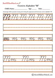 cursive alphabet aussie childcare network