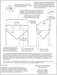 Used Blast Cabinet Sandblasting Cabinet Plans