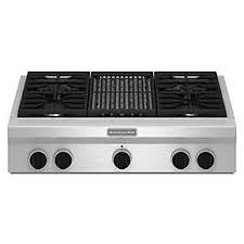 36 Inch Downdraft Electric Cooktop See All Stovetops Kitchenaid