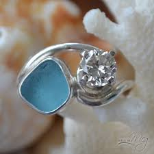 sea glass engagement rings sea glass engagement rings new wedding ideas trends