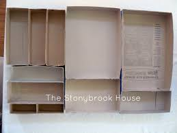 Desk Drawer Organizer Diy Cereal Box Drawer Organizer The Stonybrook House