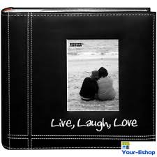 wedding photo albums 4x6 photos 400 black leather wedding photo slip in albums ebay