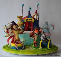 madagascar circus themed cake cupcakes animales selva