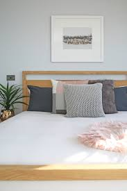 modern contemporary winter scandinavian bedroom timber bed frame
