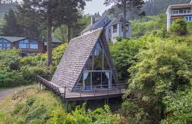 classic a frame beach cabin hits the market in oregon for 315k