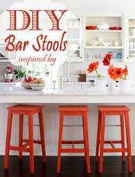 Diy Kitchen Bar by Remodelaholic Diy Bar Stools With Metal Bar Accents