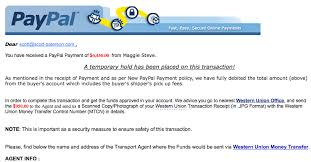 latest classified scam the fake paypal payment email saabnet