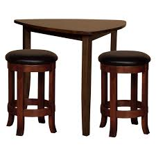 triangle pub table set have to have it trilogy triangle 3 pc pub table set 2049 99