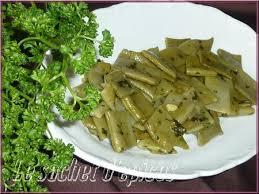 cuisiner haricots beurre haricots plats au beurre et au persil le sachet d épices