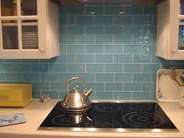 Glass Mosaic Kitchen Backsplash by Sky Blue Glass Subway Tile Modwalls Lush 3x6 Modern Tile