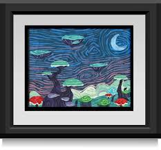 paintings canvas frames prints artwork trees