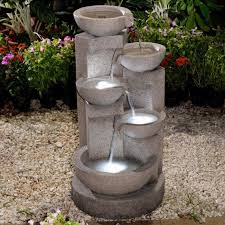 Outdoor Water Fountains With Lights Multi Tier Bowls Water Fountain With Led Light Fountain Water