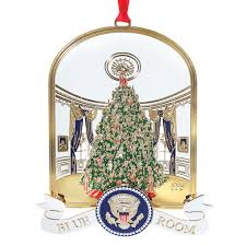 1993 white house ornament the blue room handmade in usa