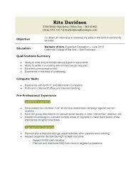 sample college resume high senior application resume