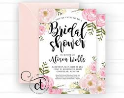 bridal shower invitation bridal shower invite etsy
