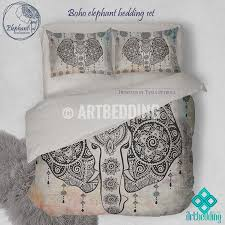 Valentina Ramos Duvet Elephant Bedding Bohemian Duvet Cover Set Indie Ganesh Vintage