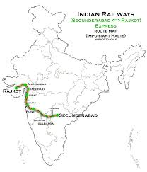 map of rajkot file secunderabad rajkot express route map jpg wikimedia commons