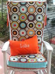 rocking chair cusion pink rocking chair cushion sets for nursery