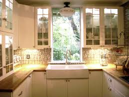 decoration remarkable kitchen cabinet with window treatment and