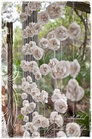 wedding backdrop book curtain of 12 garlands paper flowers roses garland backdrop from