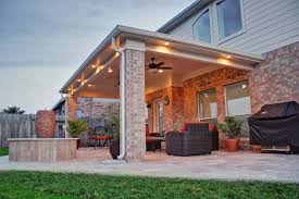 Patio Covers Houston Texas Patio Cover In Cypress Tx Hhi Patio Covers